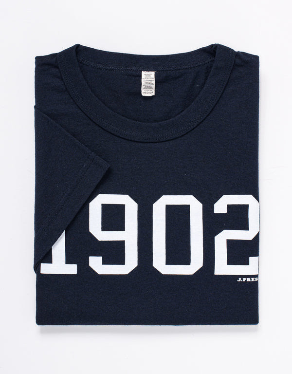 SHORT SLEEVE CREW NECK 1902 T SHIRT - NAVY