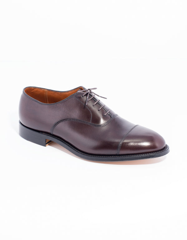 ALDEN STRAIGHT TIP BAL CALFSKIN - BROWN
