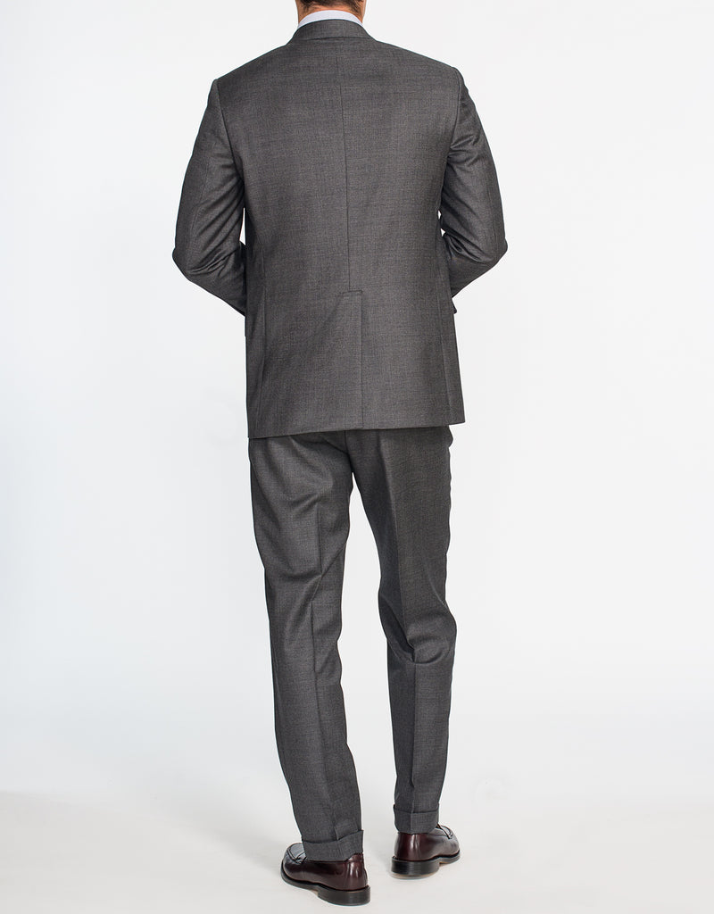 DARK GREY SHARKSKIN SUIT - CLASSIC FIT