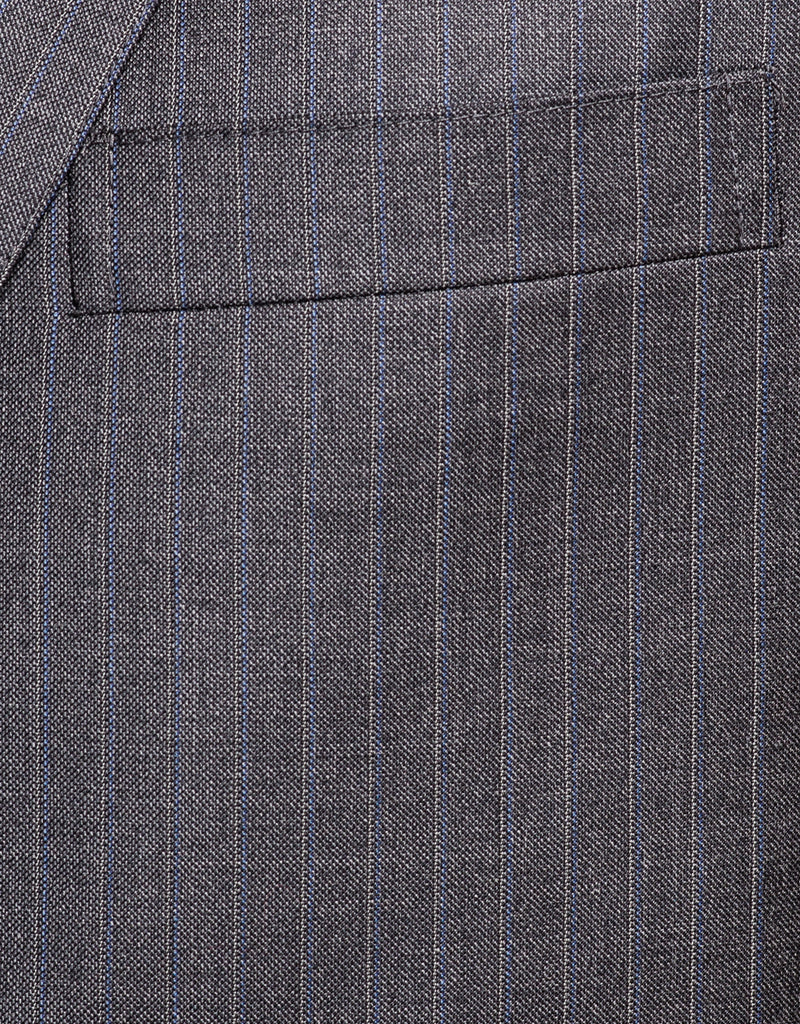 GREY SHARKSKIN STRIPE SUIT