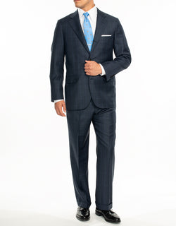 BLUE WINDOWPANE SUIT - CLASSIC FIT
