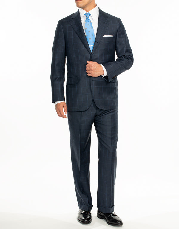 BLUE WINDOWPANE SUIT