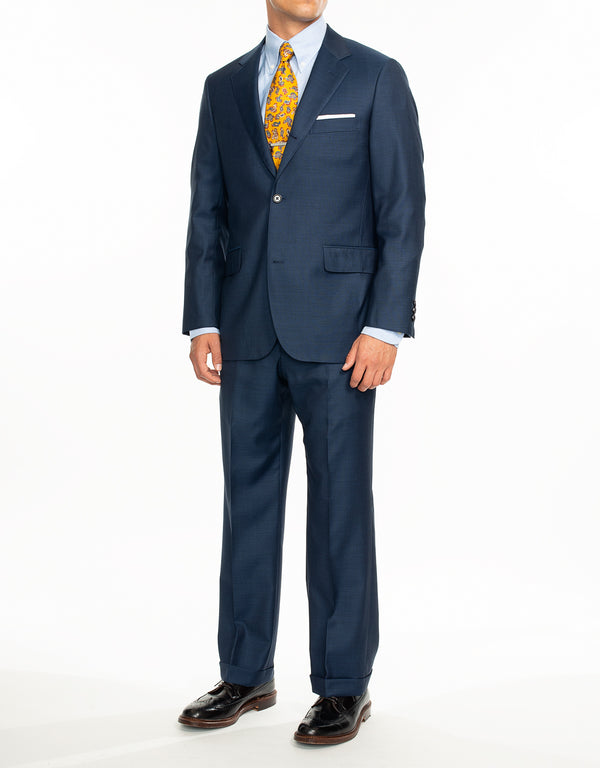 BLUE SHARKSKIN SUIT - CLASSIC FIT