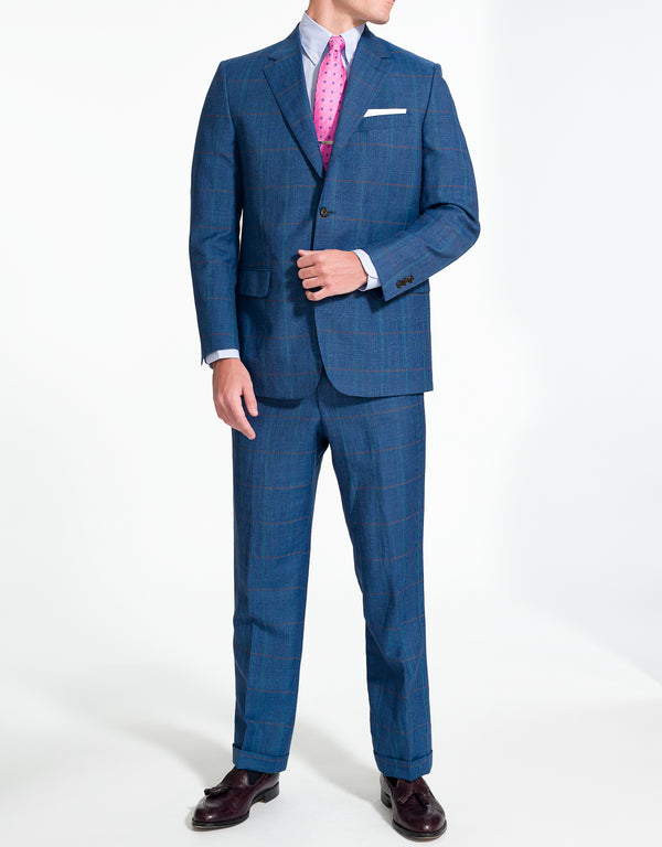 J. PRESS BLUE PLAID SUIT