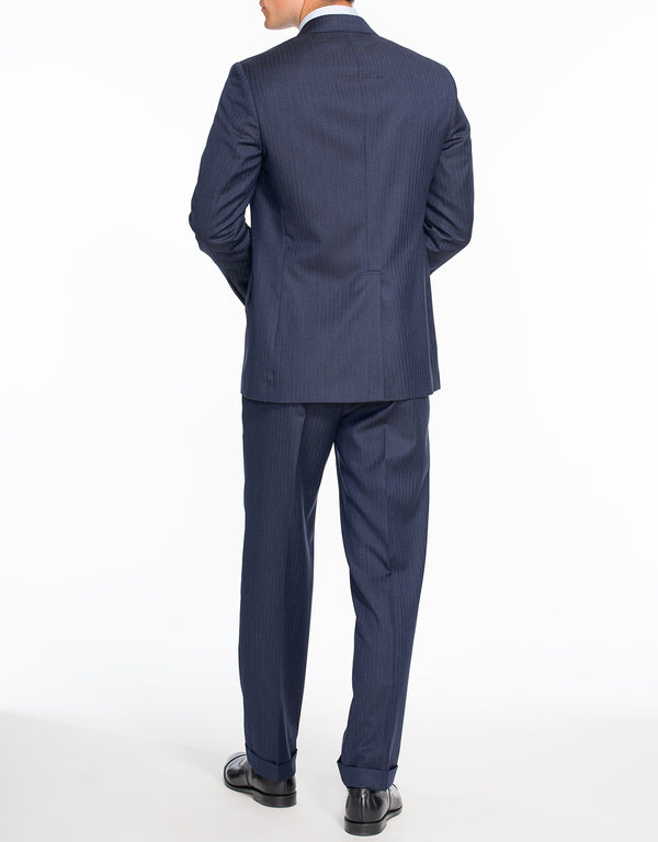 BLUE HERRINGBONE SUIT - CLASSIC FIT