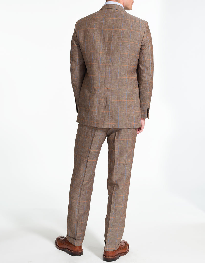 LIGHT BROWN PLAID SUIT