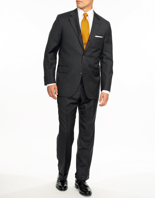 CHARCOAL DOUBLE STRIPE SUIT - CLASSIC FIT