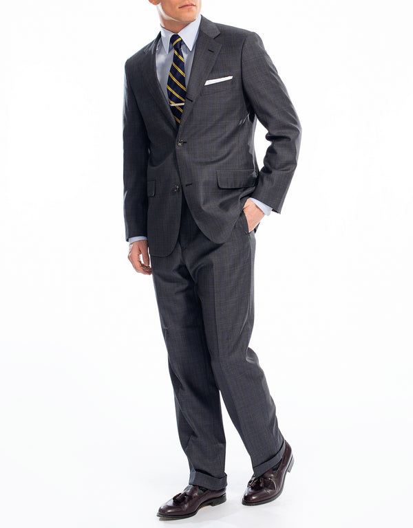 GREY MULTI PANE SUIT - CLASSIC FIT