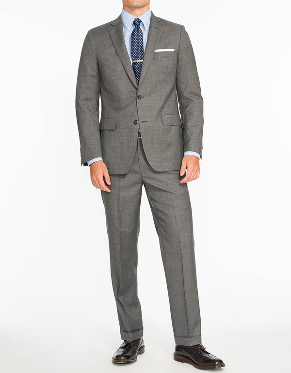 GREY NEAT 2-BUTTON SUIT - CLASSIC FIT