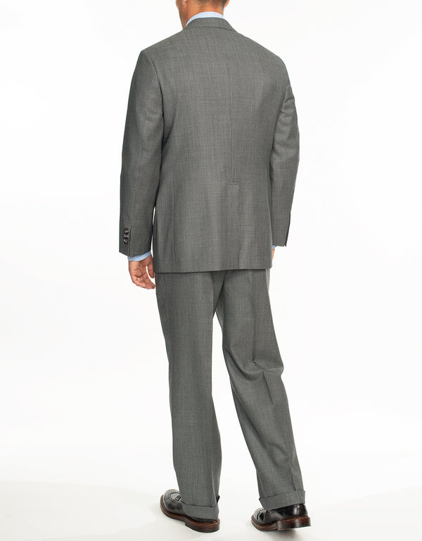 LIGHT GREY NAILHEAD SUIT - CLASSIC FIT