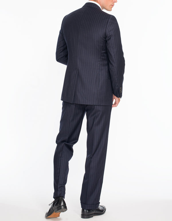 NAVY CHALK STRIPE 2-BUTTON SUIT
