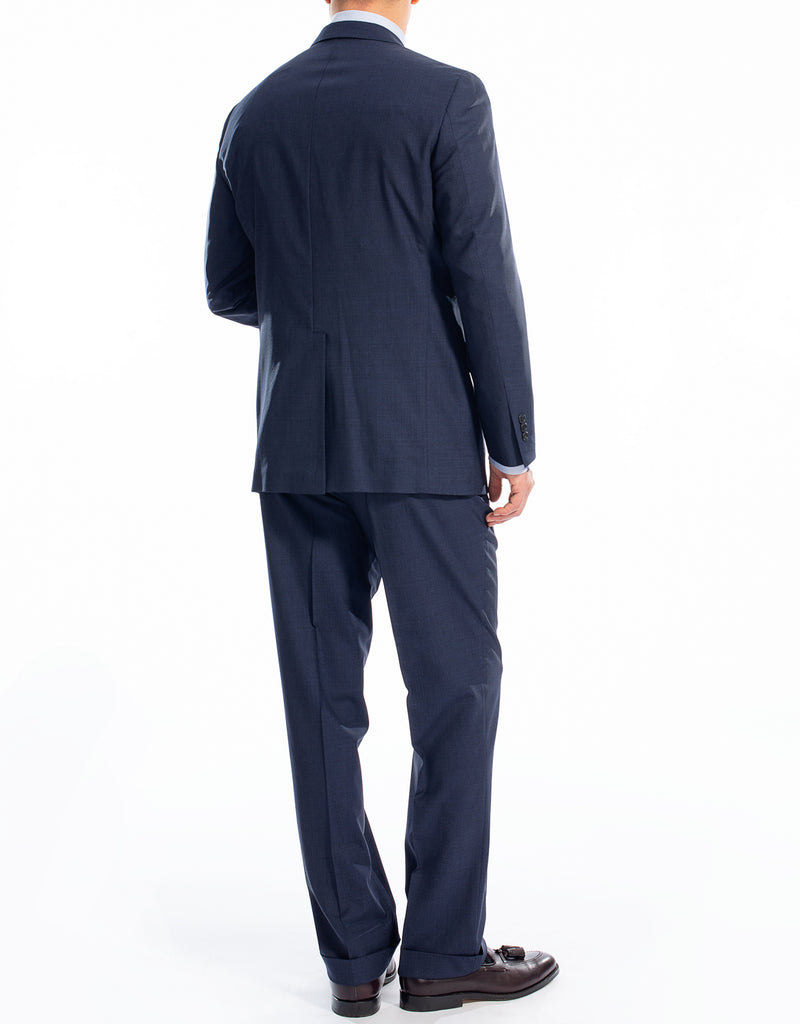 DARK BLUE CHECK SUIT