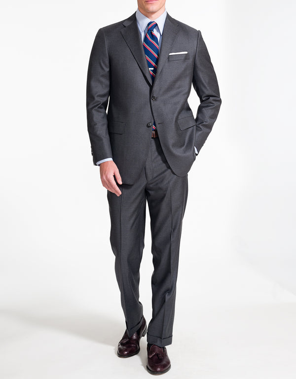J. PRESS SOLID CHARCOAL SUIT
