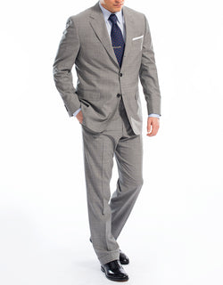 GREY SCREEN WEAVE SUIT
