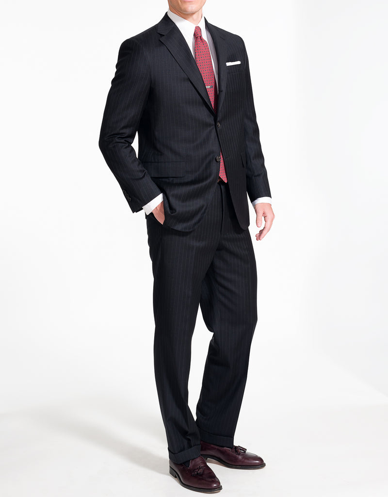J. PRESS NAVY STRIPE SUIT