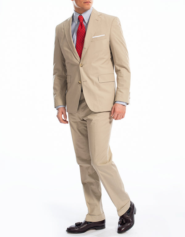 J. PRESS TAN POPLIN SUIT