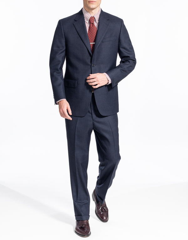 DARK BLUE BIRDSEYE SUIT