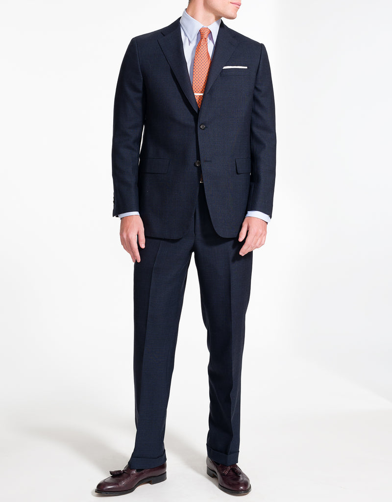 J. PRESS CHARCOAL PLAID WITH PANE SUIT