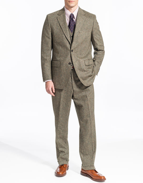 OLIVE DONEGAL 3 PIECE SUIT
