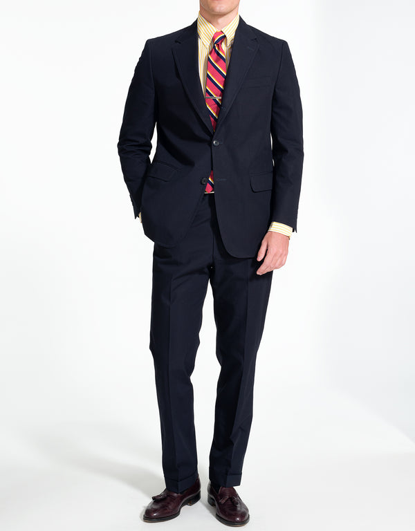 J. PRESS NAVY POPLIN SUIT