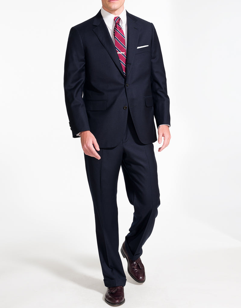 NAVY SOLID SUIT - CLASSIC FIT