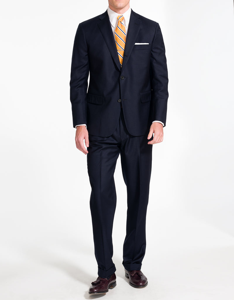 SOLID NAVY MODERN FIT SUIT
