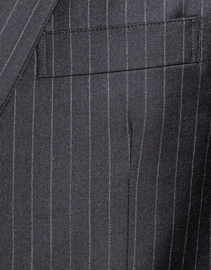 CHARCOAL CHALK STRIPE 2-BUTTON SUIT - CLASSIC FIT
