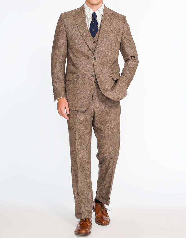TAN DONEGAL 3 PIECE SUIT - CLASSIC FIT
