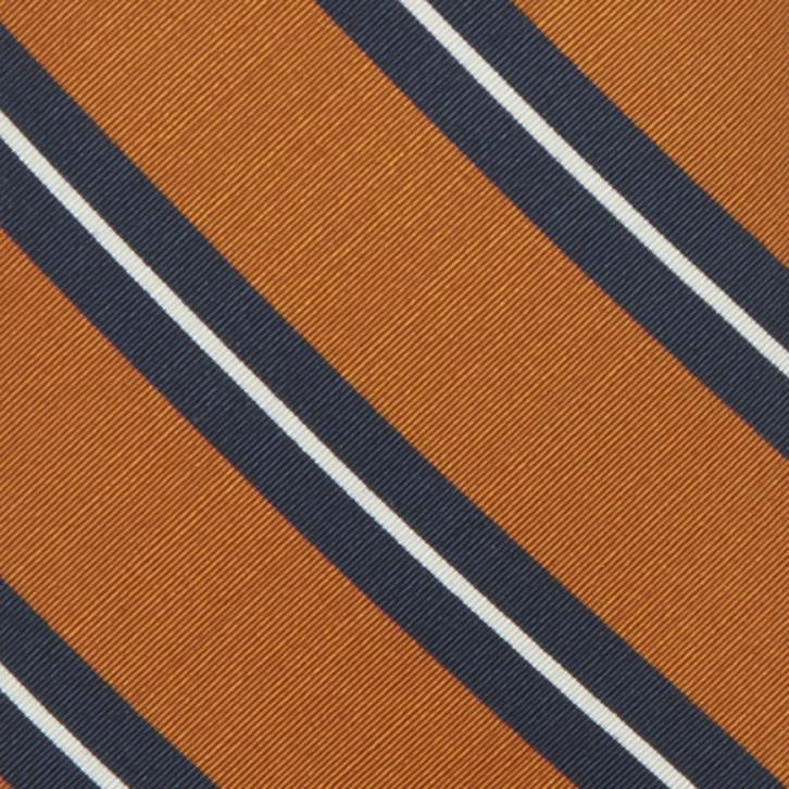 IRISH POPLIN - ORANGE/NAVY/WHITE