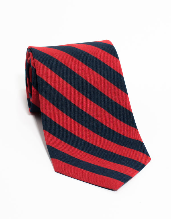 IRISH POPLIN REGIMENTAL - RED/NAVY