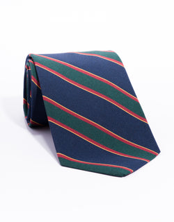 IRISH POPLIN REGIMENTAL TIE - NAVY