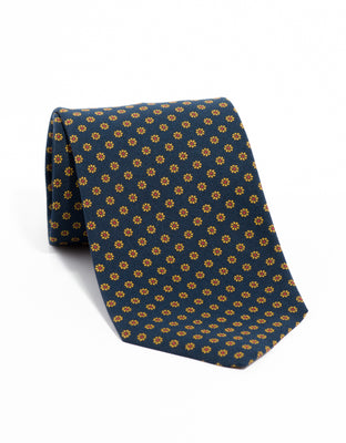 IRISH POPLIN FOULARD- NAVY