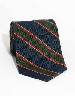 REGIMENTAL TIE - NAVY/GREEN/RED/GOLD
