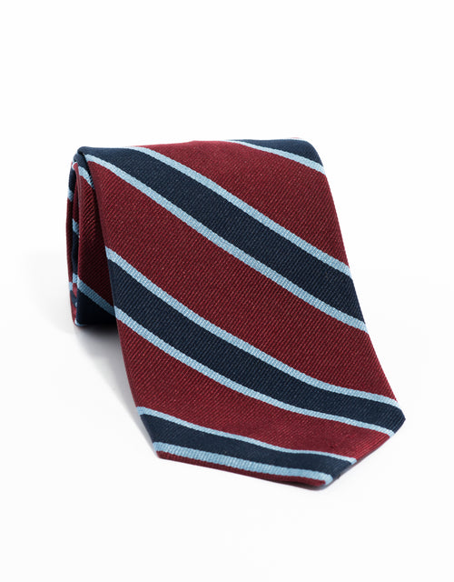 REGIMENTAL TIE- BURGUNDY/NAVY/BLUE