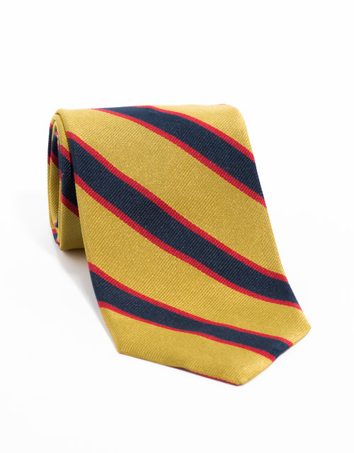 REGIMENTAL TIE- GOLD/NAVY/RED