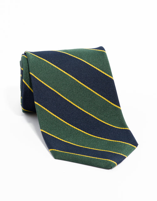 REGIMENTAL TIE- GREEN/NAVY/YELLOW
