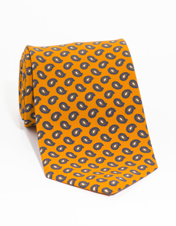 IRISH POPLIN PINES - ORANGE