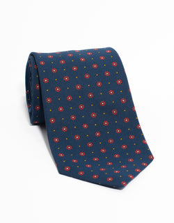 IRISH POPLIN FOULARD - NAVY