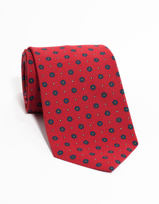 IRISH POPLIN FOULARD - RED