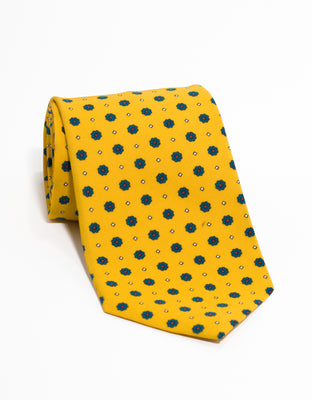 IRISH POPLIN FOULARD - YELLOW