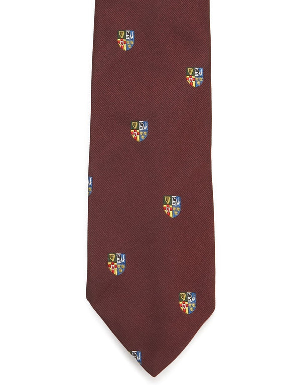 EMBLEMATIC 4 PROVINCE SHIELD TIE - BURGUNDY