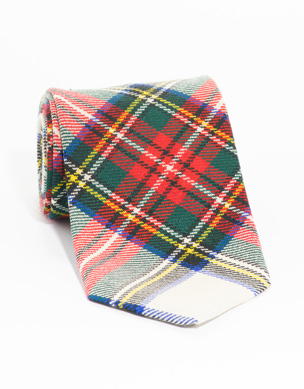 WOOL TARTAN TIE - STEWART DRESS