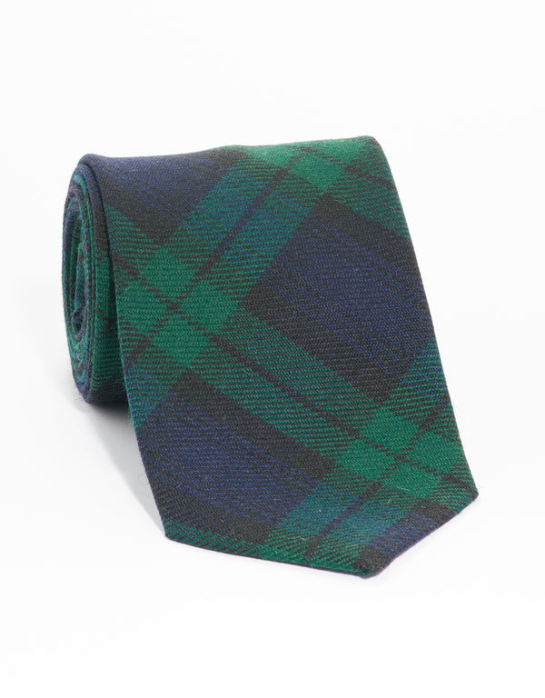 WOOL TATRAN TIE - BLACKWATCH