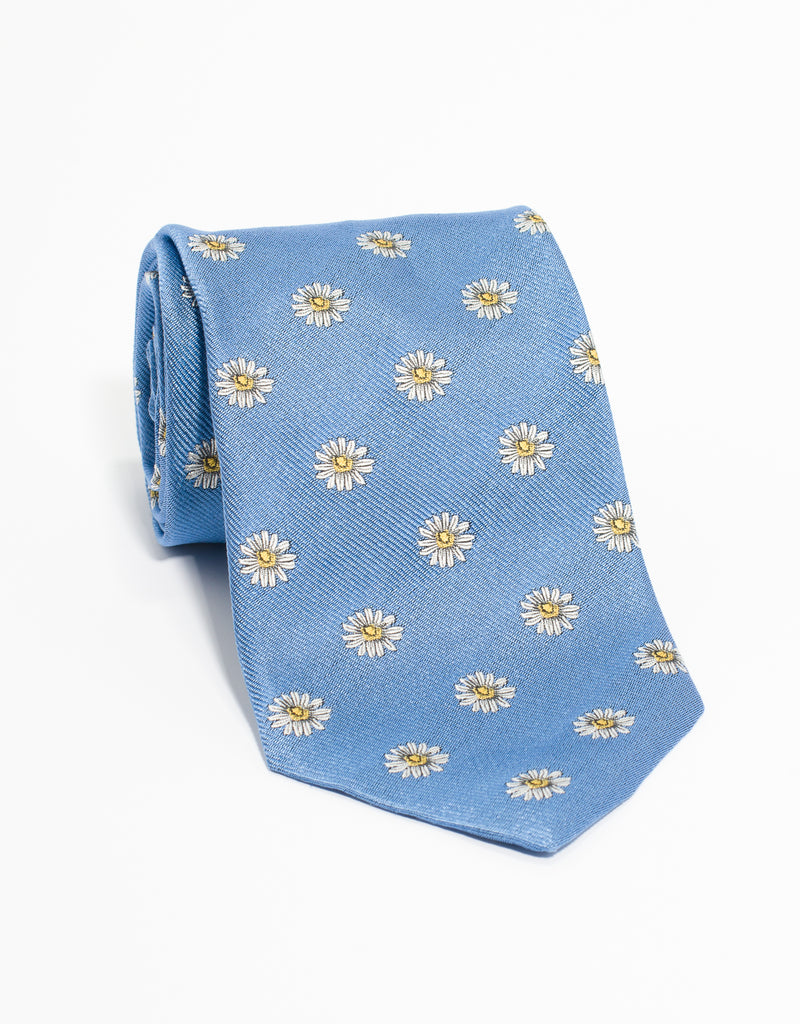 EMBLEMATIC DAISY TIE - L BLUE