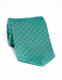 J. PRESS PRINTED SQUARE TIE - GREEN