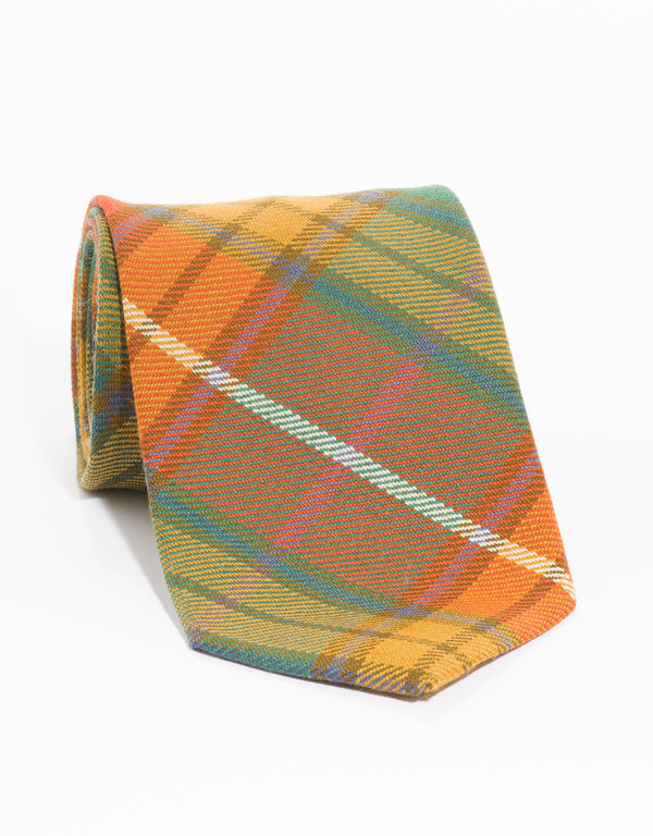 WOOL TARTAN TIE - BUCHANAN ANTIQUE