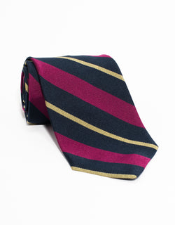 REGIMENTAL TIE - NAVY/PURPLE/GOLD