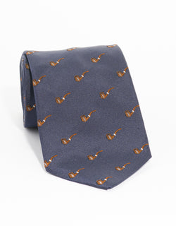 EMBLEMATIC PIPE TIE - NAVY