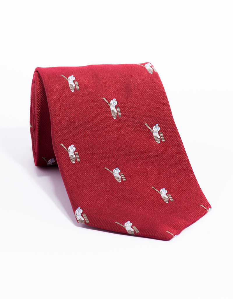 EMBLEMATIC CRICKET TIE - RED
