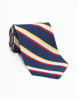 REGIMENTAL TIE - NAVY/SILVER/RED/YELLOW
